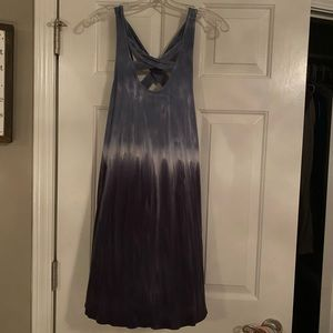 American Eagle S tie-dye blue and white dress